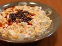 石垣島ラー油をかけた麻婆豆腐